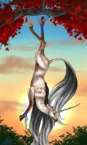 tarot_unicornis_xii___the_hanged_man_by_the13thblackcat-d8u7xvd