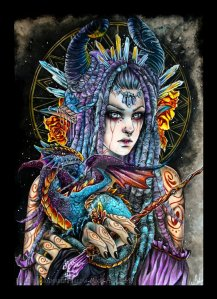 queen_of_wands___78_tarot_mythical_by_hollow_moon_art-dc1jdt9