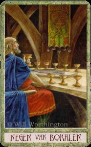 Druidcraft Tarot Nine of Cups Will Worthington